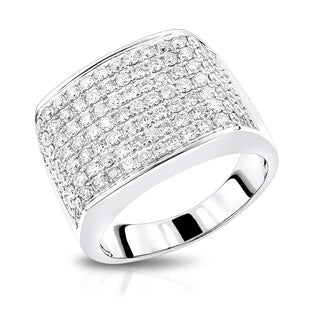 Luxurman 14k White Gold Men's 2ct TDW Diamond Band (G-H, VS1-VS2)