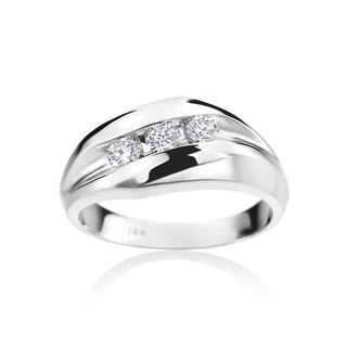 Summer Rose Men's 14k White Gold 1/2-carat Diamond Ring