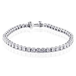 10k White Gold 7 3/4ct Moissanite Bracelet