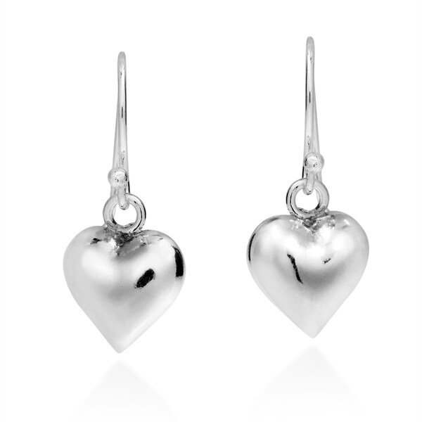 Gleaming Heart Full of Love .925 Silver Dangle Earrings (Thailand)