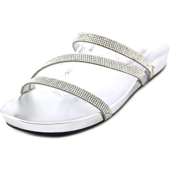 Marc Fisher Women's Kalifa Silver Textile Basic Sandals