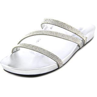 Marc Fisher Women's Kalifa Silver Textile Basic Sandals