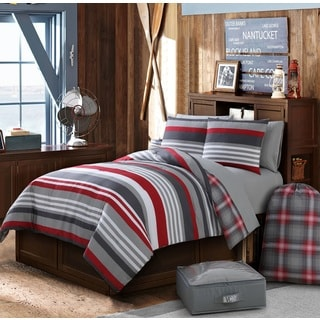 VCNY Finn Plaid 11-piece Bed in a Bag Comforter Set