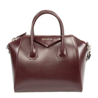 Givenchy Small Antigona Glazed Calfskin Leather Satchel with Silver Hardware