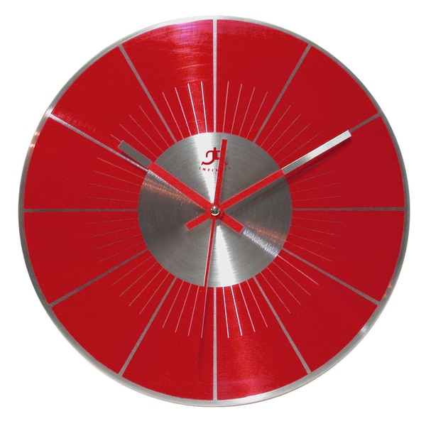 Infinity Instruments Red LP Clock