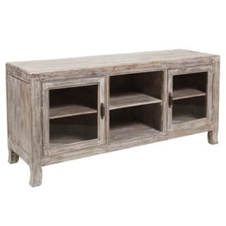 Benzara Urban Port Sturdy White Wood Open Storage Shelf