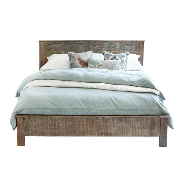Benzara Urban Port Mango Wood Bed