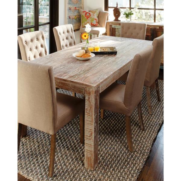 Benzara Urban Port Mango Wood Dining Table