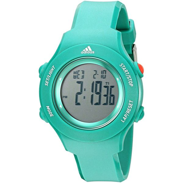 Adidas Unisex ADP3232 'Sprung basic' Green Silicone Watch