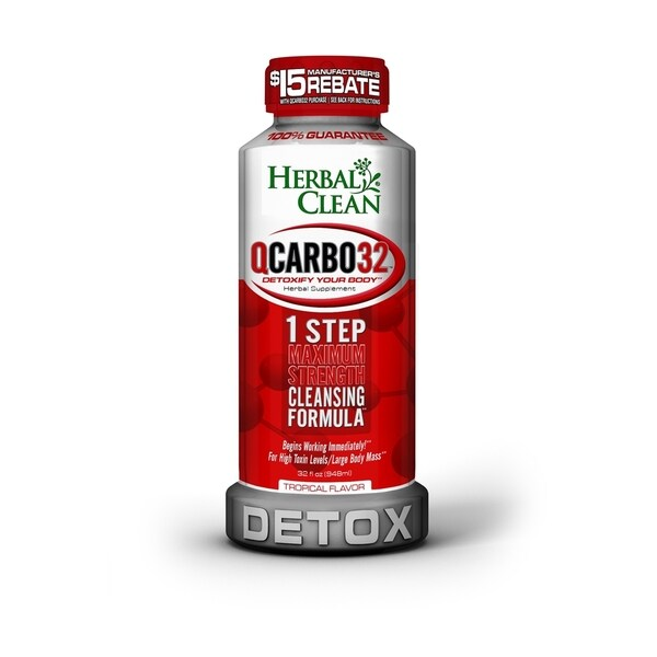 Herbal Clean Qcarbo32 32-ounce Tropical Detox Drink