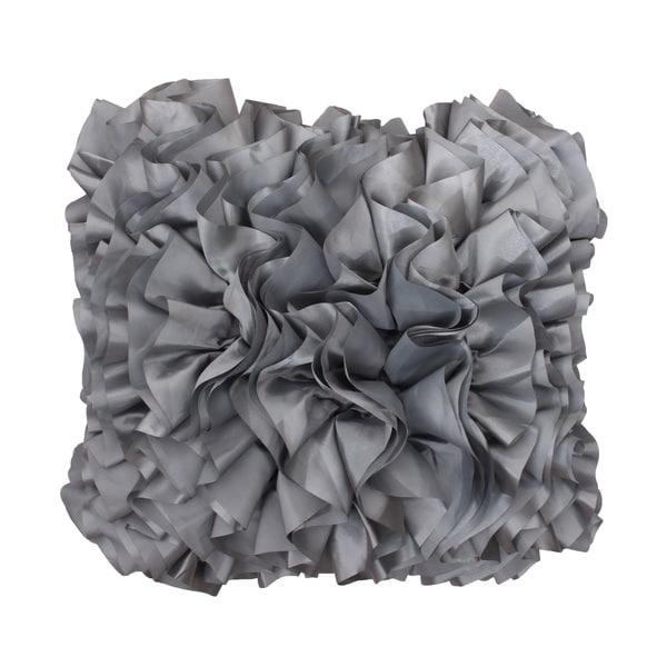 Thro by Marlo Lorenz Bahama Grey Satin Ruffle Pillow