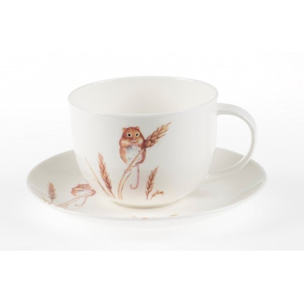 Roy Kirkham Breakfast Cup/Saucer - Country Wildlife Harvest Mouse Set of 2 19205799