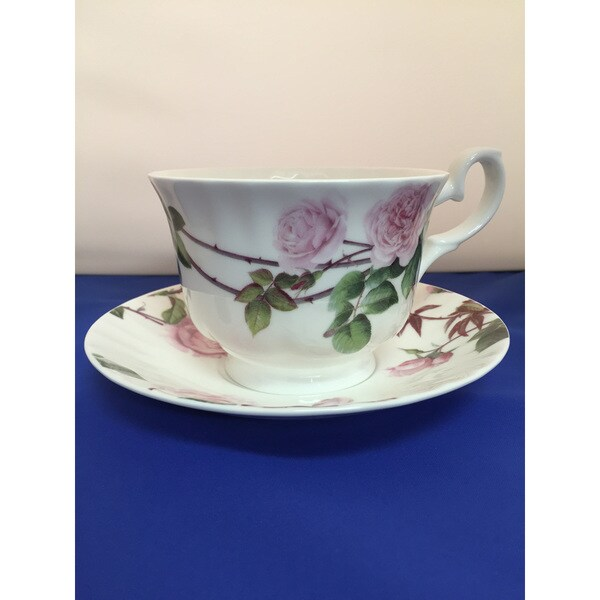 Roy Kirkham Breakfast Cup/Saucer - David Austin English Rose Set of 2 19205800