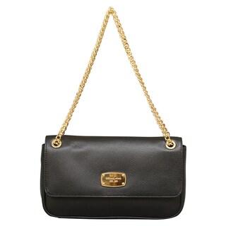 Michael Kors Jet Set Chain Small Black Shoulder Flap Handbag