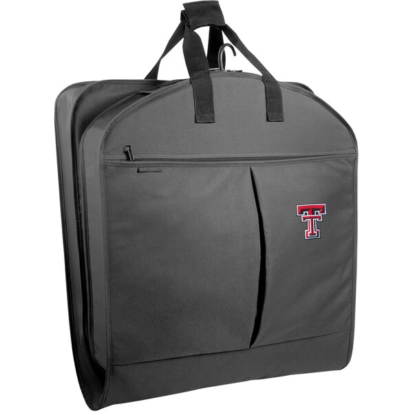 WallyBags Black Polyester 40-inch Texas Tech Red Raiders Garment Bag with Pockets