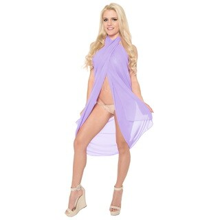 La Leela Women's Super Lightweight Sheer Chiffon 88-inch x 39-inch Plain Sarong Wrap Plus Pareo