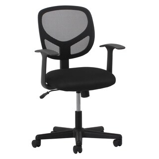Essentials by OFM Swivel Black Mesh Task Chair with Arms