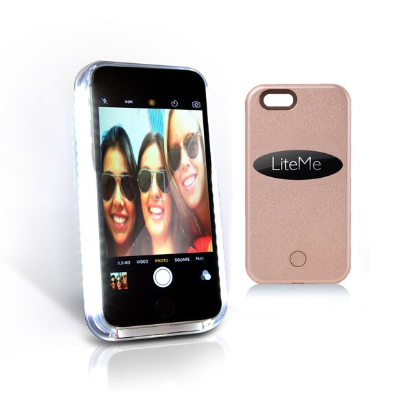 SereneLife Lite-Me Selfie Multicolor Protection Smart Case with Built-in Power Bank and LED Lights for iPhone 6/iPhone 6s