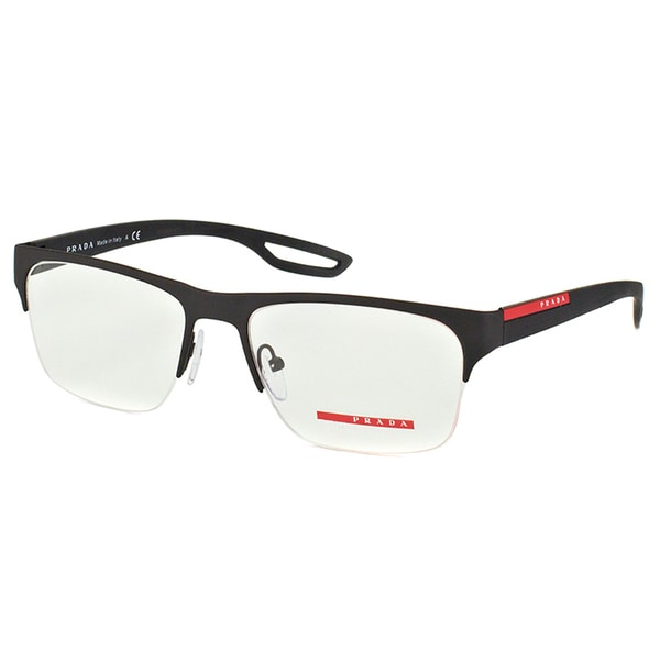 Prada Mens PS 52FV DG01O1 Linea Rossa Black Rubber Semi ...