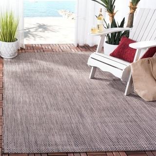 Safavieh Indoor/ Outdoor Courtyard Brown/ Beige Rug (2' 7 x 5')