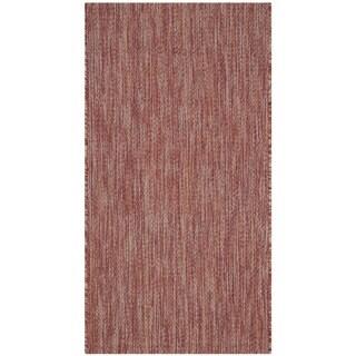 Safavieh Indoor/ Outdoor Courtyard Red/ Red Rug (2' 7 x 5')