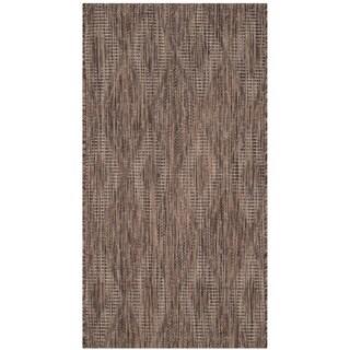 Safavieh Indoor/ Outdoor Courtyard Brown/ Brown Rug (2' 7 x 5')