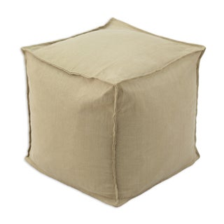 Circa Solid Barley 12.5-inch Square Seamed Footstool