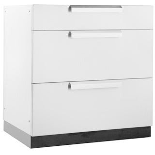 """NewAge Products Outdoor Kitchen 32""""W X 23""""D 3-Drawer Cabinet"""