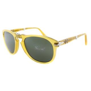 Persol Unisex PO 714 204/31 Yellow Transparent Plastic Foldable Sunglasses