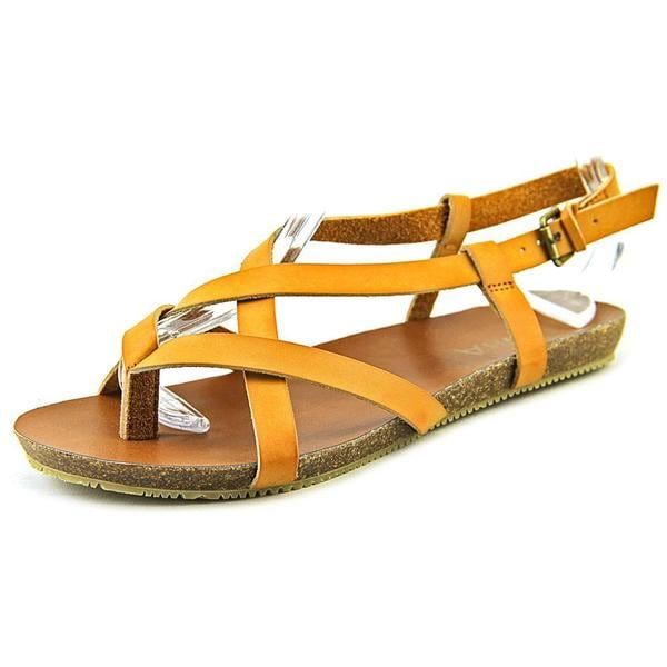 Mia Women's Wildcard Tan Synthetic Strappy Sandals
