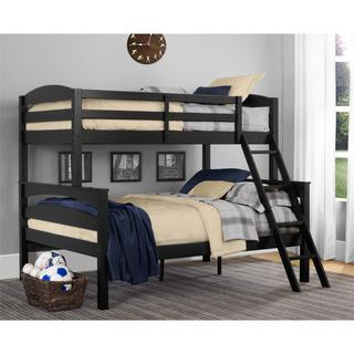 Dorel Living Brady Black Twin over Full Bunk Bed