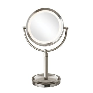 Dainolite LED Table Satin Chrome LED Lighted Magnifier