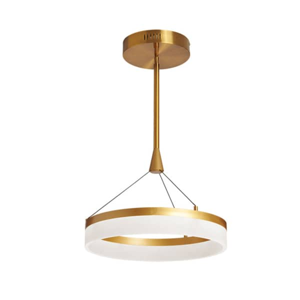 Dainolite 32W LED Vintage Bronze Frosted White Circular Pendant