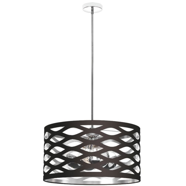 Dainolite 4-light Black on Silver Cut-Out Pendant