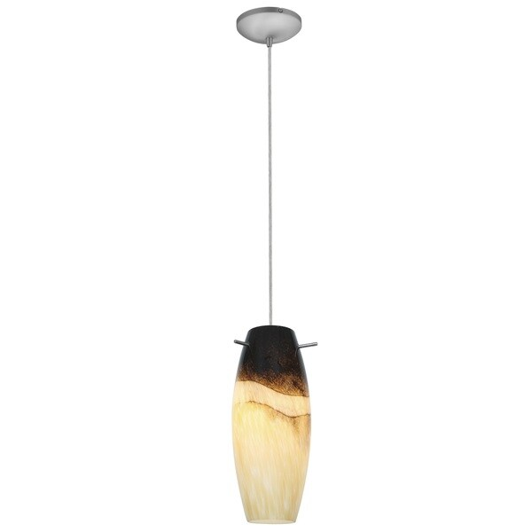 Access Lighting Cabernet Steel LED Cord Pendant, Sand Slate Shade