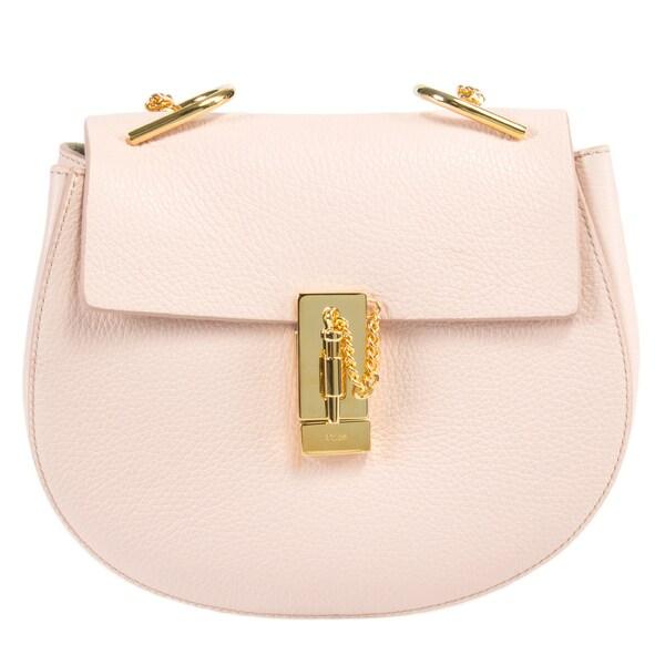 Chloe Drew Medium Pink w/Gold Hardware Chain Shoulder Handbag