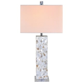Catalina Mother of Pearl Crystal 3-way Table Lamp