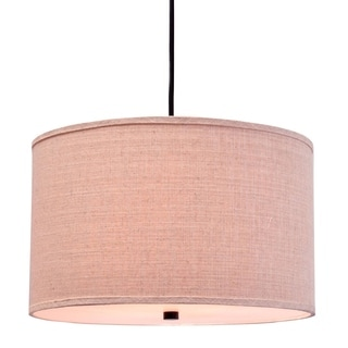 Catalina Beige Fabric 3-Light Pendant