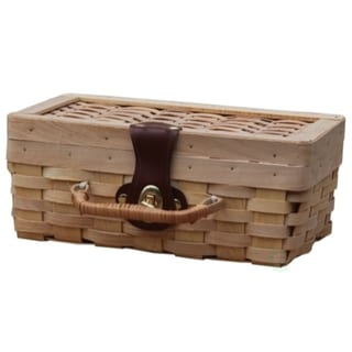 Off-white Wood Picnic Basket