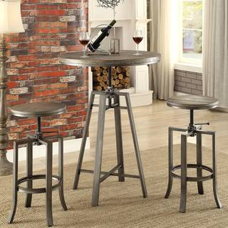 Corkscrew Industrial Design Adjustable Dining Bar Pub Set