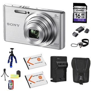 Sony DSC-W830 20MP Silver Camera Bundle