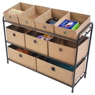 Tan 3-Tier Storage Organizer