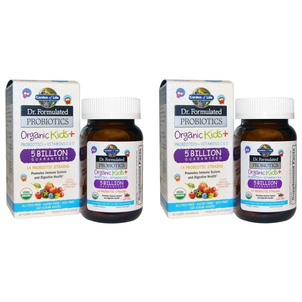 Garden of Life Organic Kids+ Dr. Formulated Probniotics (30 Chewables)