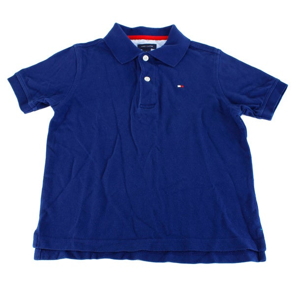 Tommy Hilfiger Boy's Blue Cotton Shirt (Size 5)