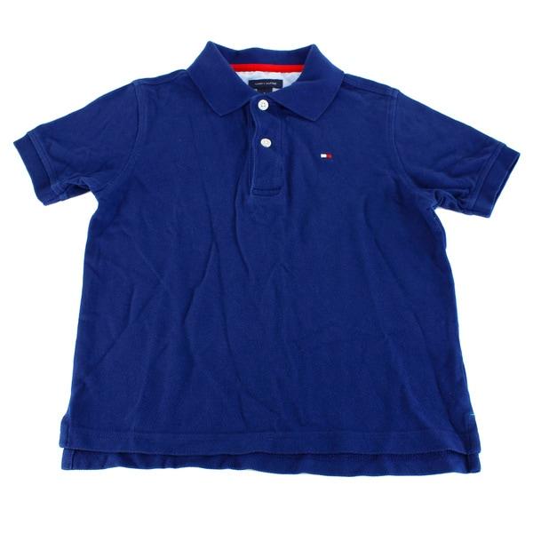Tommy Hilfiger Boy's Blue Cotton Shirt (Size 5)