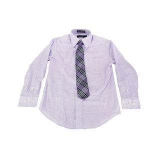 Nautica Boy's Purple Dress Shirt (Size 8 US)