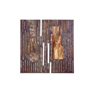 Hidden Wood Metal Canvas Art