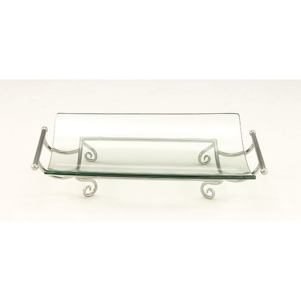 Exclusive Silver Glass Bowl Stand