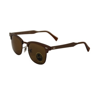Ray-Ban Women's Rb3507 Brown Metal Rimless Sunglasses with Crystal Brown Lens