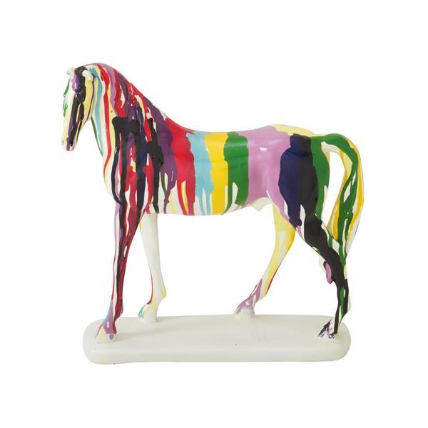 Polystyrene 10-inch x 11-inch Horse Figurine 19214396